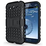 Shivam Traders-Flip Kick Stand Spider Hard Dual Rugged Shock Proof Tough Hybrid Armor Bumper Back Case Cover For Samsung Galaxy S3/ I9300 - Black