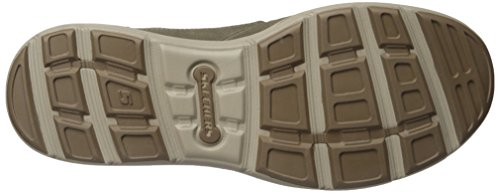 Skechers da uomo Harper Olney Lace-up Flats Khaki Leather
