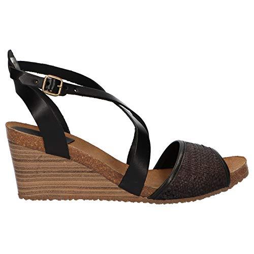 Sandalias de Mujer KICKERS 419304-50 SPAGNOL 81 Noir Rafia Talla 38