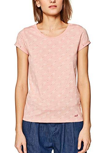 edc by ESPRIT Damen 999CC1K803 T-Shirt Rosa (Light Pink 690) Medium (Herstellergröße: M)