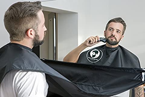 Cape à barbe originale, bavoir à barbe, tablier ramasse-poils, noir,
