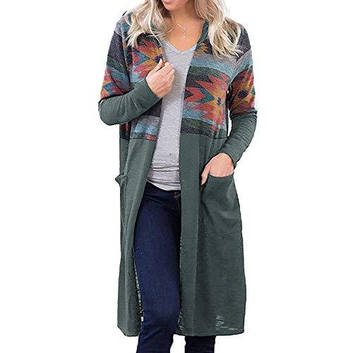 OUICE Femme Pull Cardigan Long Sweatshirt Cardigan Manteau Blouson Cardigan Oversize Mode Et Confort Décontractée Outwear