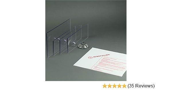 Makrolon//Polycarbonat Scheibe//Platte Zuschnitt 2-8 mm transparent//klar 4 mm, 300 x 300 mm