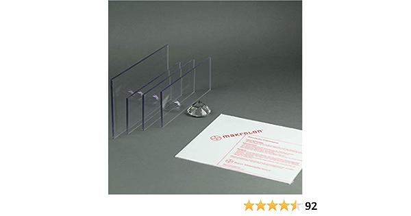 Makrolon//Polycarbonat Scheibe//Platte Zuschnitt 2-8 mm transparent//klar 2 mm, 600 x 300 mm