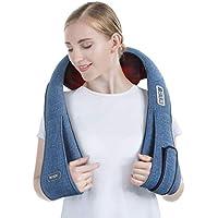 Konjac masajeador de cuello, shiastu masajeador cervical de espalda y hombros, 8 nodos masaje con calor para relajar y aliviar dolor de músculo, diseño para liberar las manos en hogar/oficina/coche