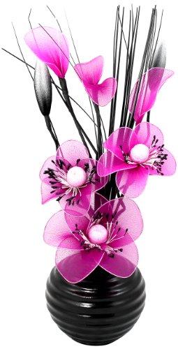 Flourish 704483 813 Black Vase w...