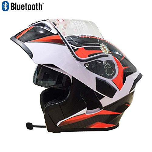 SJ-SPORT Erwachsener Offroad-Bluetooth-Helm, Clamshell-ATV-Helm und Bluetooth-Headset, DOT-zertifizierter Outdoor-Reitschutzhelm,M Bluetooth-headset Clamshell