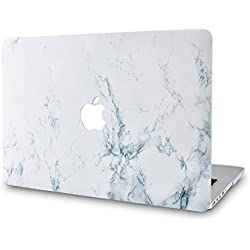 KECC MacBook Pro 13 Coque (2019/2018/2017/2016, Touch Bar) Rigide Case Cover pour MacBook Pro 13.3 {A1989/A1706/A1708} (Marbre Blanc)