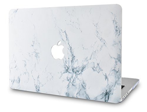 KECC MacBook Air 13 Pouces Coque Rigide Case Cover pour MacBook Air 13.3 Coque {A1466/A1369} (Marbre Blanc)