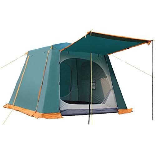 IDWOI Camping Zelt Wasserdicht 3-4 Person Instant Pop-Up-Zelt Draussen Strand Multifunktion Tragbar Quadratisches Zelt, Grün