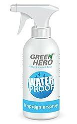 Green Hero Imprägnierspray für Textilien und Leder, 500 ml, Ohne Treibgas, Effektive Nanoversieglung gegen Schmutz und Feuchtigkeit