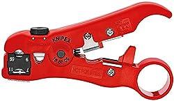 KNIPEX 16 60 06 SB Abisolierwerkzeug für Koaxial- und Datenkabel 125 mm (in SB-Verpackung)