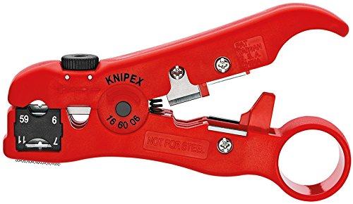 KNIPEX 16 60 06 SB Utensile pelacavi per cavi coassiali e cavi dati 125 mm