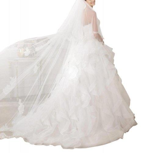 GEOGE BRIDE - Robe nuptiale belle sans bretelles de corset perle et jupon chic Blanc