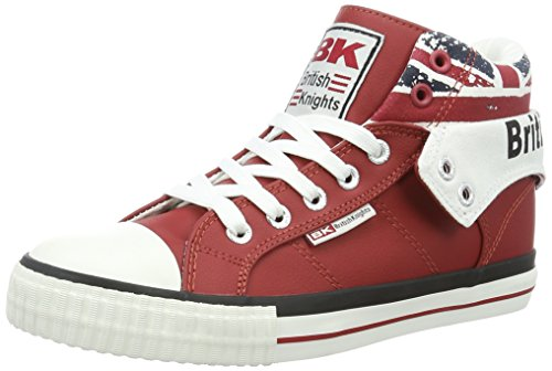 British Knights Damen ROCO High-Top, Rot (Red/Union Jack), 40 EU