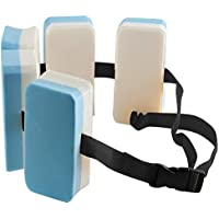 Starter Cinturón Flotador para niño, con Cierre de Seguridad, EVA Cinturón de Flotación Aprendizaje150 mm * 70 mm * 225 mm Azul y Blanco
