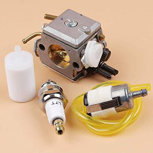 AiCheaX Strumenti Carburatore Carby Kit Tubo Flessibile Filtro Candela Kit per Husqvarna 365 371 372 XP 362 Motosega Walbro HD-12...