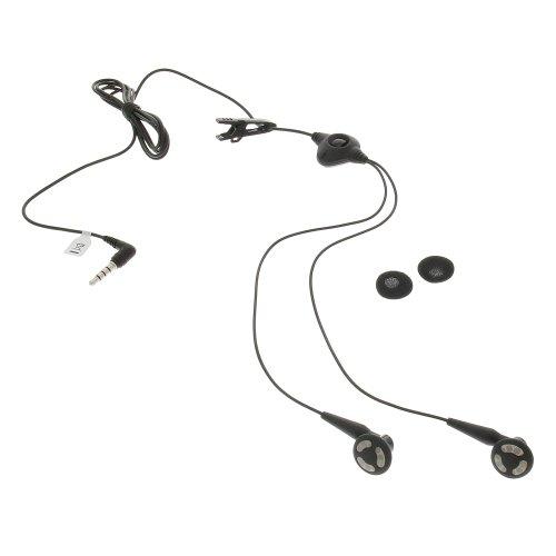 foto-kontor Stereo Headset Kopfhörer HDW-14322-005 Stecker 90° schwarz für BlackBerry 9530 Storm 9550 Storm 2 9630 Tour -