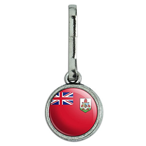 Antik Charm Kleidung Geldbörse Gepäck Rucksack Zipper Pull Land National Flagge A-C Bermuda National Country Flag (Möbel-bermuda)