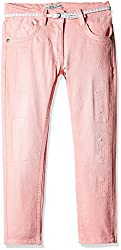Nauti Nati Girls Jeans (NSS16-861_Peach_4 - 5 Years)