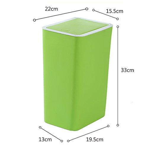 LYXPUZI Cubo de Basura portátil con Tapa, Cubo de Basura plástico Tipo Bala, Cubo de Basura Rectangular, hogar (Color : 4)