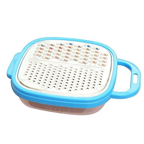 yipinco7285Küche Kartoffel Karotte Gurke Gemüse Reibe Cutter Laubhäcksler Speisen, Schere Gerät Einheitsgröße blau