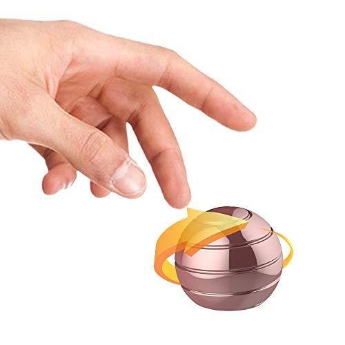 DDZY Kinetic Schreibtisch Spielzeug Stress Relief Toys Büro Executive Gadgets Metall zappeln Ball mit optischen Täuschung für Erwachsene und Kinder Anti Angst ADHS Stress abzubauen (Rotgold) -