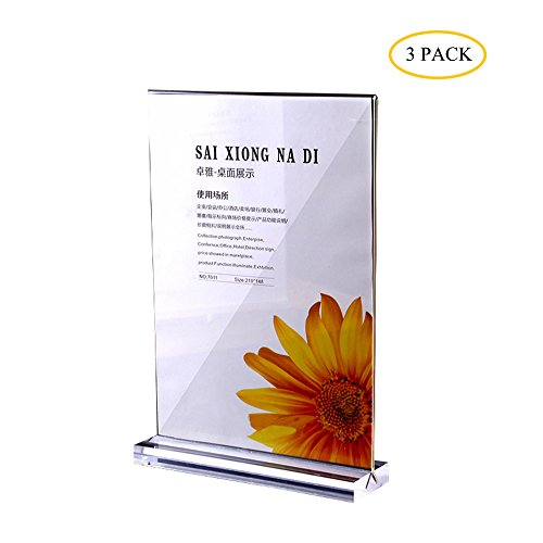 Segno del ritratto poster espositore, a4in acrilico trasparente e double–sided presentazione, presentazione supporto adatto per pubblicità, price list, istruzioni, ecc.