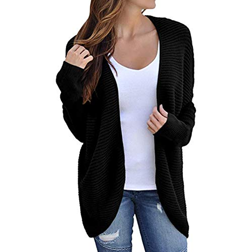 Pullover Sweater Damen Sweatshirt, SUNNSEAN Bluse Frauen Winter Langarm Fledermausärmel Solide Strickbandage Mantel Tops T-Shirt Langarmshirts Jumper