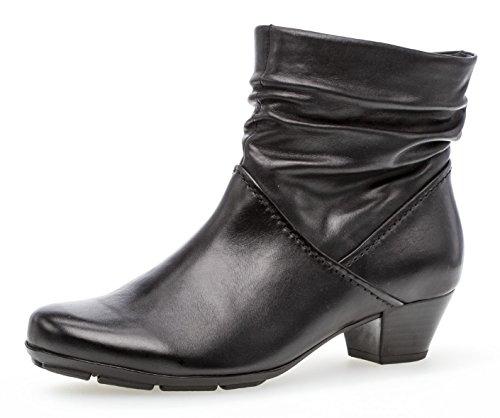 Gabor Damen Ankle Boots 95.637,Frauen Stiefel,Ankle Boot,Halbstiefel,Damenstiefelette,Bootie,knöchelhoch,Blockabsatz 3.5cm,F Weite (Normal),schwarz,UK 6.5