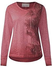 CECIL Damen Langarmshirt mit Seitenprint