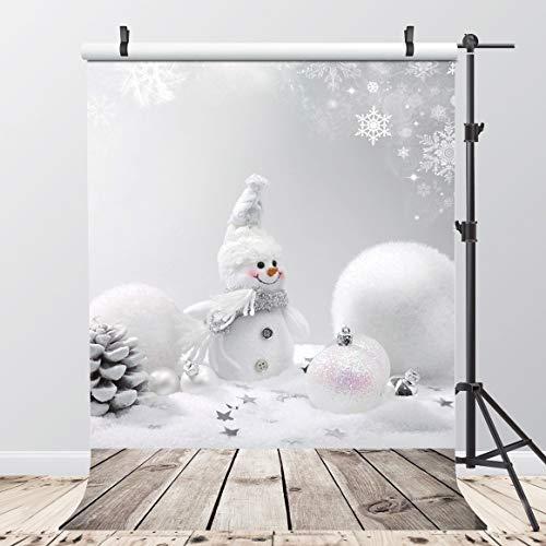2,1M Fotografie Vinyl Hintergrund Weihnachten Schneemann Fotografien Hintergründe für Studio Foto Requisiten Schneeflocken Weihnachten Decor 94-68 ()