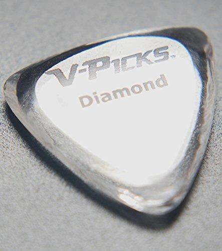 v-picks Diamant Spitz Gitarre Plektrum Plektron Picks (X3) diamp3W/Bonus RIS Plektrum (x1) (Plektren V-picks)