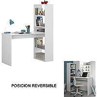Hogar Decora Schreibtisch mit Regal weiß 144x 120x 53cm preisvergleich bei kinderzimmerdekopreise.eu