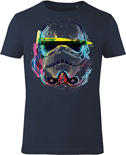 GOZOO Star Wars T-shirt Uomo Imperial Stormtrooper Neon Sketch Art 100% Cotone XL