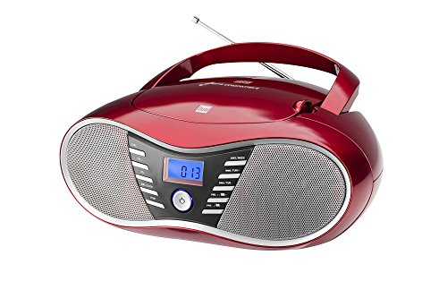 Dual P 60 BT Portable Boombox (UKW-Radio, CD-Player, Bluetooth für Audiostreaming, USB-Anschluss) - Portable Boombox Radio