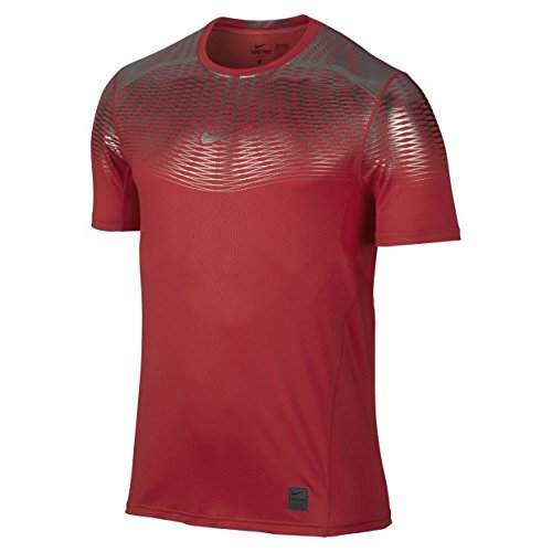 Preisvergleich Produktbild Nike HYPERCOOL MAX FTTD SS - Kurzärmeln T-Shirt Rot - XL - Herren