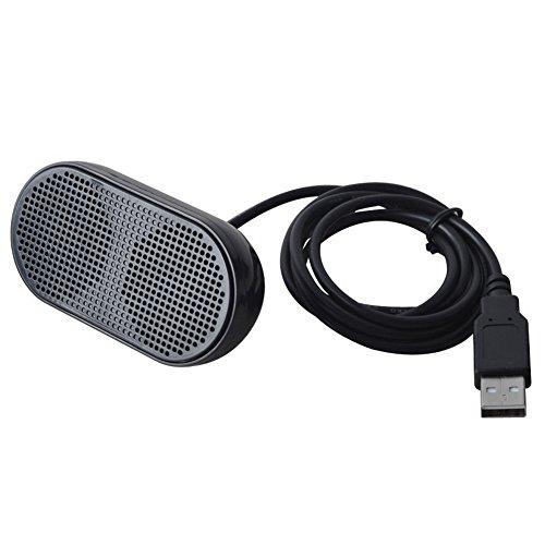TOOGOO USB Lautsprecher Tragbare Lautsprecher Angetrieben Stereo Multimedia Lautsprecher fuer Notebook Laptop PC (Schwarz) Laptop Notebook-lautsprecher