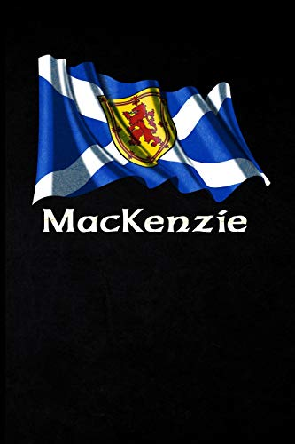 MacKenzie: Scottish Surname Lion Rampant Flag - Blank Lined Journal with Soft Matte Cover