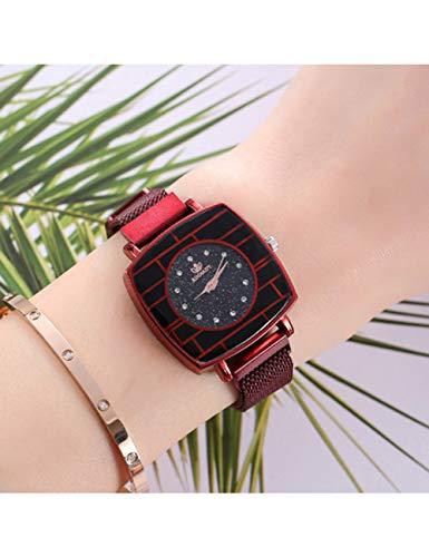 NJKHN Reloj De Las Señoras Reloj De Pulsera De Mujer para Dama Rose Gold Square Luxury Diamond Reloj...