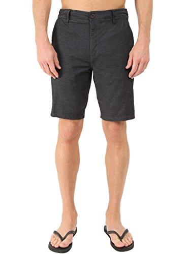 O'Neill Men's Locked Over Dye Hybrid Board Shorts, Dark Charcoal, Size 31