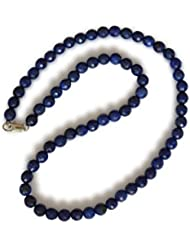Lapislazuli Halskette, natürlicher Lapislazuli, dunkelblau, rund, faceted, 6mm