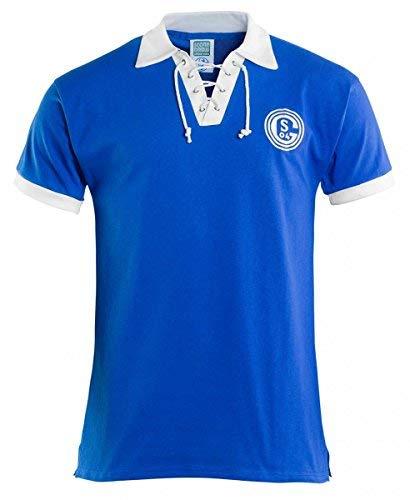Schalke 04 FC Schalke 04 Retro Trikot 1950er Jahre königsblau, L