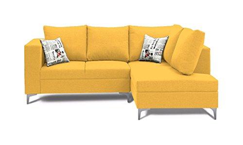 Stoa Paris OTTOSOFALYELLOW511LSL2S Four Seater Sofa (Light Yellow)