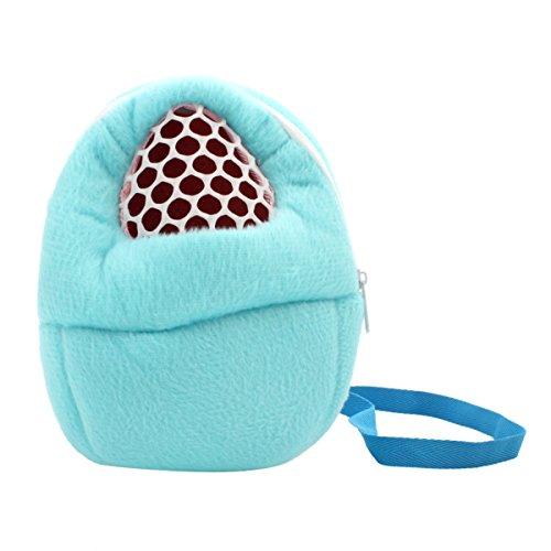 Hamster Chinchilla Hase Eichhörnchen Haustiertragetasche mit Schultergurt Frettchen Rucksack Schultertasche Bag Packet Hanging Outdoor gasdurchlässig (blau, M) (Blau Frettchen)