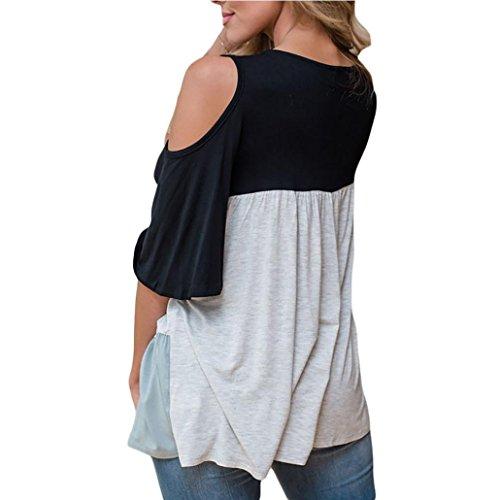 Femmes Blouse, Transer ® Mode femme bandage chemisier Casual Tops Loose t-shirt Noir