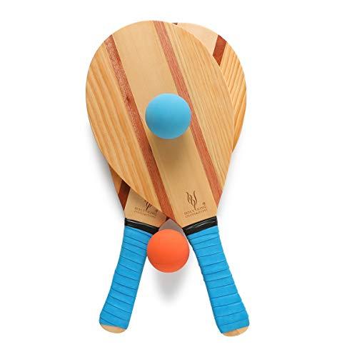 HOLYKING Beach Paddle Ball Set Outdoor Sport Spiele Flat Schläger Tennis Schläger