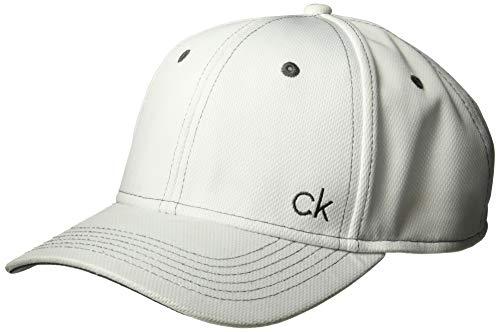 Calvin Klein Öse (Calvin Klein Herren Performance-Mesh Tech justierbarer Baseball-Cap - Weiß)