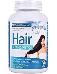 Complément alimentaire zinc, levure de bière et vitamine E pour aider à prévenir la chute des cheveux - Complément vitaminique pour renforcer les cheveux - 180 capsules végétariennes
