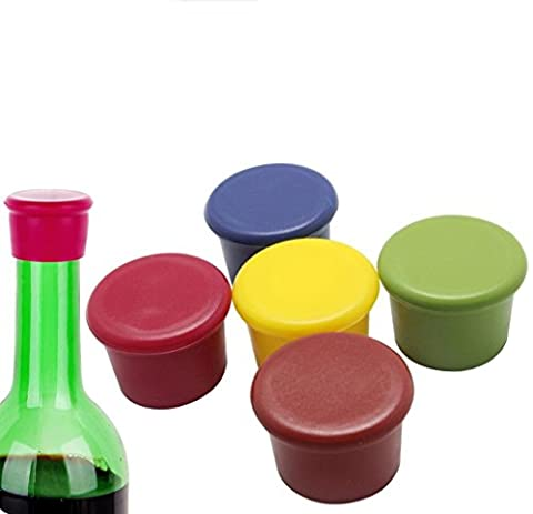 Homgaty 5X Beer Bottle Cap Reusable Silicone Wine Stopper to Seal for Beer,Wine,Champagne,Beverage